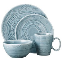 Threshold 16 Piece Kennet Azure Dinnerware Set - Blue