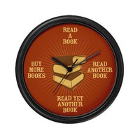 Avid Reader (Antique) Wall Clock by BiblioGifts- 345592357
