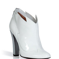 Laurence Dacade - White and Silver Patent Leather Booties