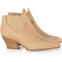 Acne|Alma brushed-leather ankle boots|NET-A-PORTER.COM