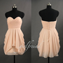 Cute lace stapless prom dress / bridesmaid dress