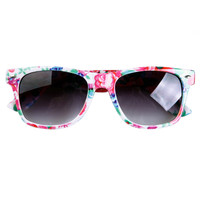Vintage Postoral Flower Frame Sunglasses