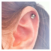 Cute Panda Surgical Steel Stud Earring. Perfect for Helix and Cartilage Piercings.