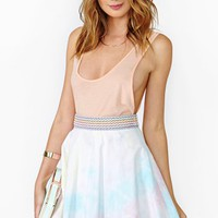 Rainbow Fade Skater Skirt