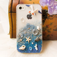 Beach gradient Handmade Case For Iphone 4/4s/5
