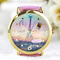 Fashion Princess Eiffel Tower Watch