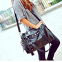 New Style Rivets Tassel Handbag Shoulder Bag