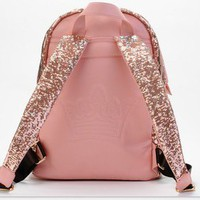 pink Shiny Unique Backpack Bag