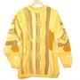 Bright Yellow Oversized Textured Cosby Style Tacky Ugly Sweater Men&#x27;s Size Large/XL (L/XL) $28 - The Ugly Sweater Shop