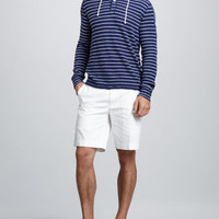 Striped Waffle Hoodie &amp; GI Shorts