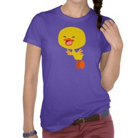 Cute Flying Cartoon Duckling Women T-Shirt by Cheerful Madness!! at Zazzle