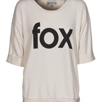 WILDFOX  Fox Time Ceramic White Oversize-Pullover - What&#x27;s new