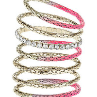 Neon pink bracelet pack - Bracelets - Fashion Jewellery  - Accessories