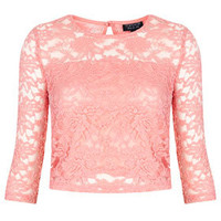 1/2 Sleeve Floral Lace Top