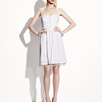 BetseyJohnson.com - SOLID SWEETHEART NECK DRESS WHITE