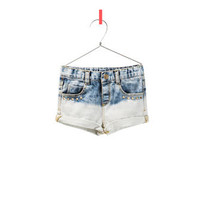 FADED DENIM SHORTS - Skirts and shorts - Baby girl - Kids - ZARA United States
