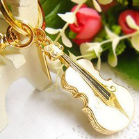 64 Gb USB 2.0 Small Crystal Violin Memory Stick Flash Pen Drive