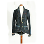 SALE Handmade Blazer wearable Art FASHION denim Blue pinstriped Mafia jacket