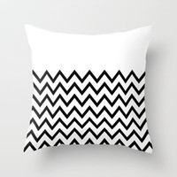 Black Chevron On White Throw Pillow by Pencil Me In 