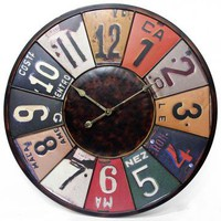Time Travels License Plate Wall Clock - Clocks - Framed Art - Unframed Art - Wall Sculptures - Home Decor - Wall Decor - Gifts | HomeDecorators.com