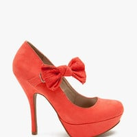 Onyx 74 Crochet Bow Mary Jane Pump