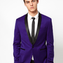 ASOS | ASOS Skinny Tuxedo Suit Jacket in Indigo Polywool at ASOS