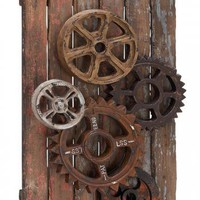 Wood Gear Wall Decor - Unframed Art - Wall Decor - Home Decor | HomeDecorators.com