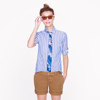 Boy shirt in stripe linen - casual shirts - Women&#x27;s shirts &amp; tops - J.Crew