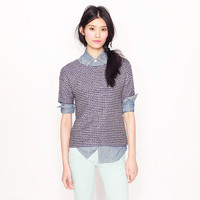 Tie top in navy tweed - AllProducts - sale - J.Crew