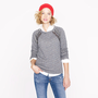 Collection embellished raglan sweatshirt - jackets &amp; cardigans - Women&#x27;s knits &amp; tees - J.Crew