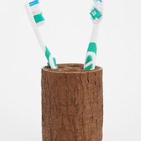 Tree Trunk Toothbrush Holder