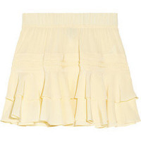 Skaist-Taylor|Ruffled washed-silk mini skirt|NET-A-PORTER.COM