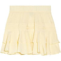 Skaist-Taylor | Ruffled washed-silk mini skirt | NET-A-PORTER.COM