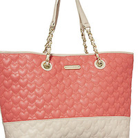 BetseyJohnson.com - BE MY ONE AND ONLY MULTI TOTE RED-MULTI