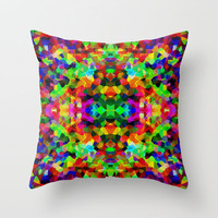 Kaleidoscope Carnival Throw Pillow by Glanoramay