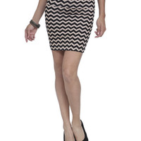 Chevron Stripe Bodycon Skirt | Shop Bottoms at Wet Seal