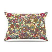 "Julia Grifol ""My Butterflies & Flowers in Yellow"" Pillow Case 