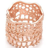 Aurelie Bidermann Vintage Lace Laser Cut Ring | SHOPBOP