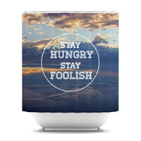 Skye Zambrana &quot;Stay Hungry&quot; Shower Curtain | KESS InHouse