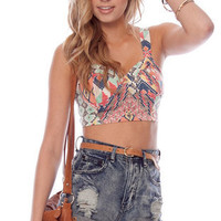 Pixel Perfecto Bustier in Multi :: tobi