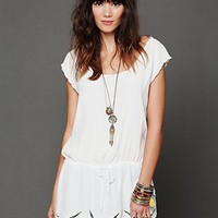 Free People Cutwork Drawstring Tunic