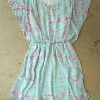 Tiny Brushstrokes Dress [3831] - $36.00 : Vintage Inspired Clothing & Affordable Summer Frocks, deloom | Modern. Vintage. Crafted.