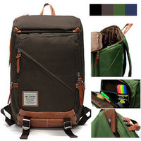 "Mens Womens Square Big Size Collegiate Backpack Travel Overnight 15"" Laptop #159"