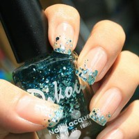 [5818-Green] Shinning Glitter Deep Green Nail Lacquer