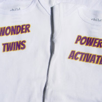 Wonder Twins Onesuit Superhero Set. Girl And Boy. Can Be Customized By Size.