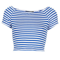 Tall Stripe Bardot Crop - New In This Week - New In - Topshop USA