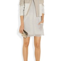 Helmut Lang|Motion leather and ponte jacket|NET-A-PORTER.COM