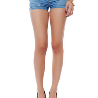 Papaya Clothing Online :: DESTRUCTED SHORTS WITH SKINNY BELT