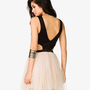 Scuba Knit &amp; Tulle Combo Dress