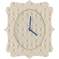 DENY Designs Home Accessories | Gabi Lanterns Mocha Quatrefoil Clock
